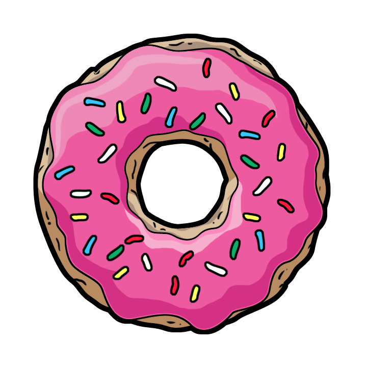 Doughnut clipart kawaii. Tumblr donut transparent google