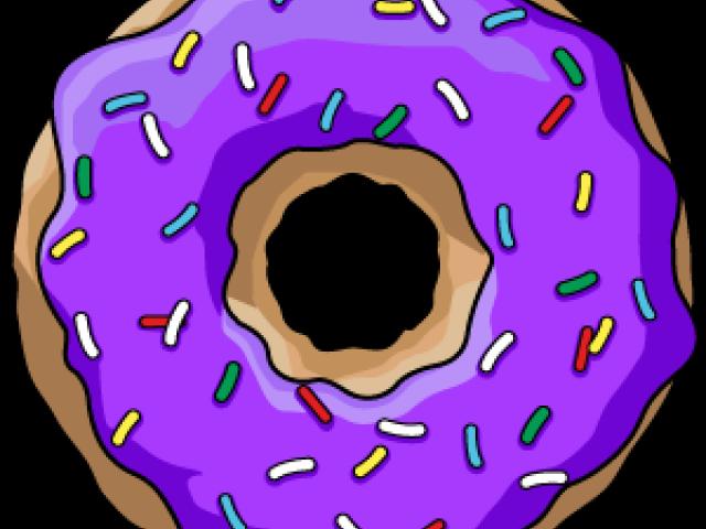 Hd donut png black. Doughnut clipart purple