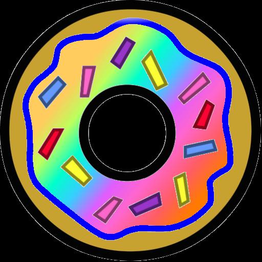 Flavored doughnut by sweetpurple. Donut clipart rainbow