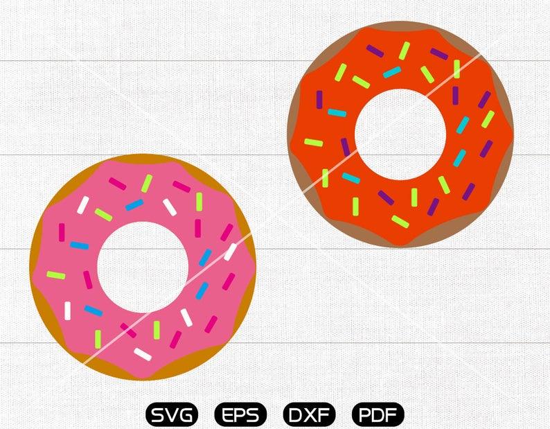 Sprinkle doughnut svg cricut. Donut clipart silhouette