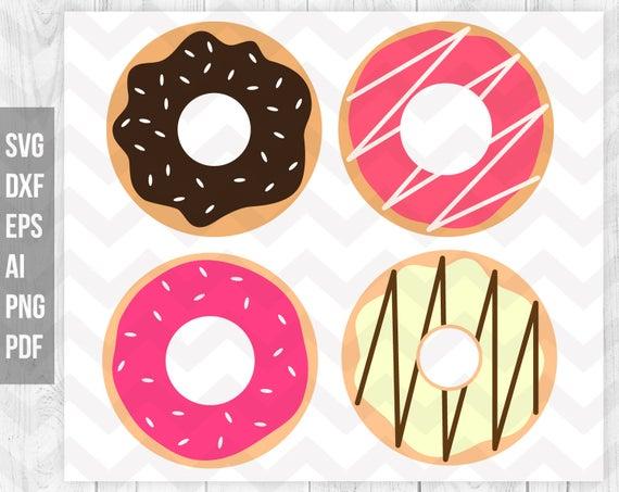 Donut clipart silhouette. Svg sprinkles donuts dessert
