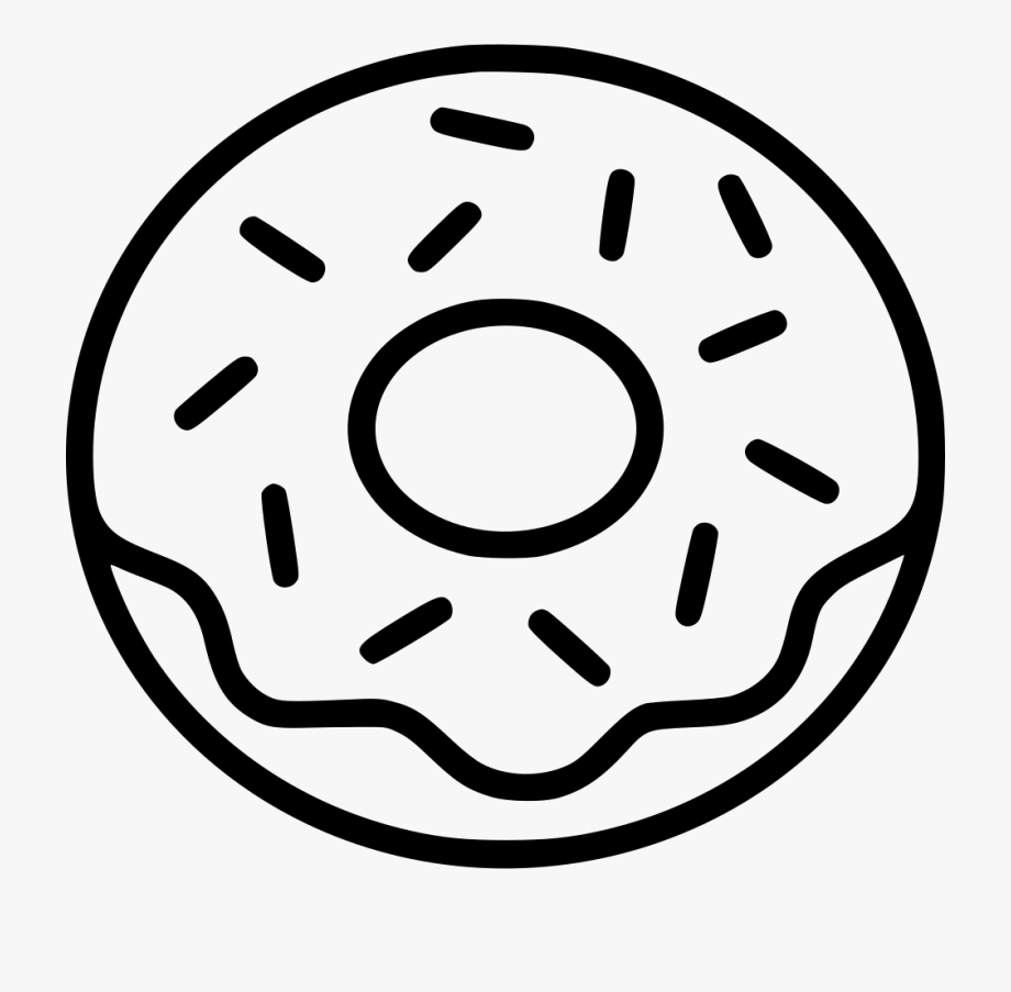 Donuts clipart sprinkle coloring page. Png icon free download