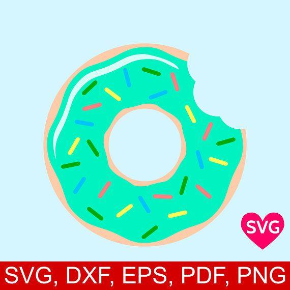 Half eaten svg file. Donut clipart silhouette