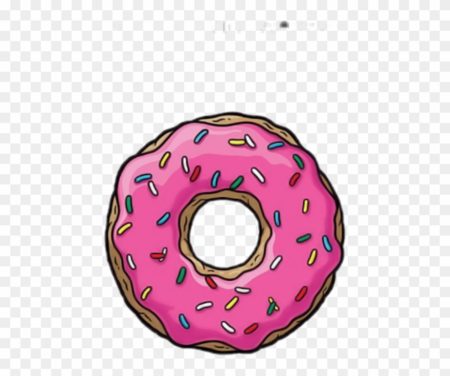 Donuts pinclipart . Donut clipart simpsons donut