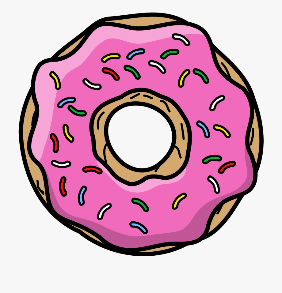 Cartoon png free . Donut clipart simpsons donut