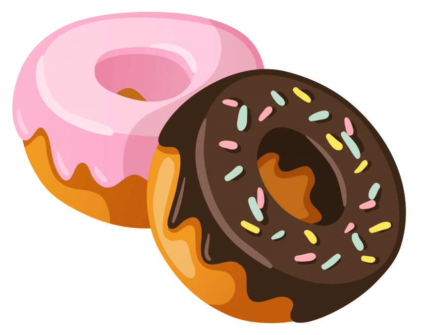 Donut clipart small donut.  donuts one huge