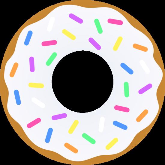 Donut clipart sprinkled donut. Vanilla with sprinkles free
