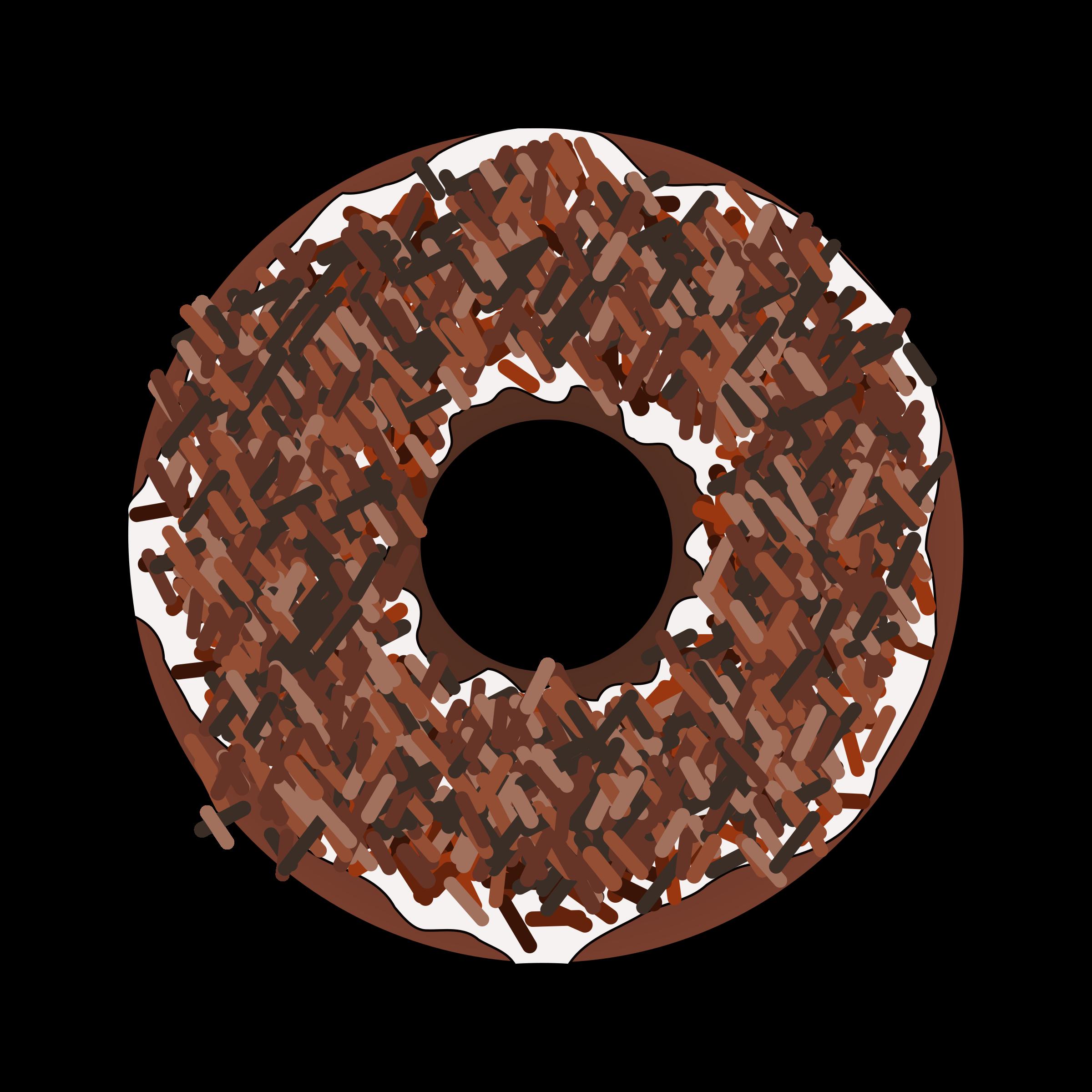 Too many brown sprinkles. Donut clipart sprinkled donut
