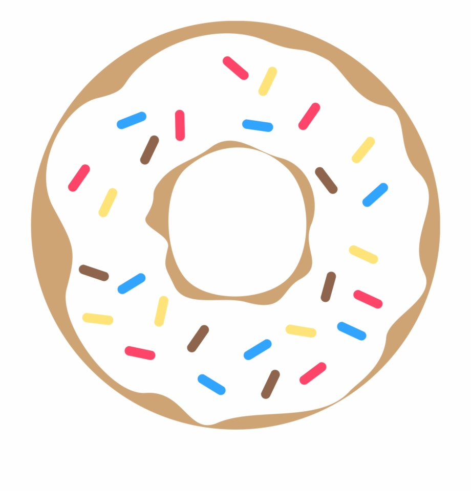 Donut clipart sprinkled donut. Pink with sprinkles free
