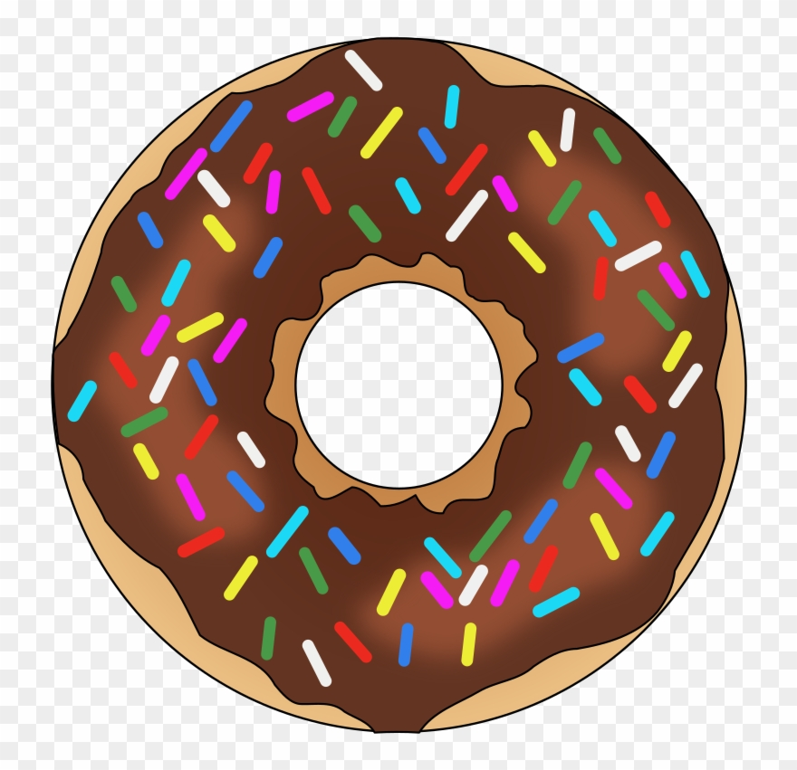 Rainbow sprinkles sprinkle png. Donut clipart sprinkled donut