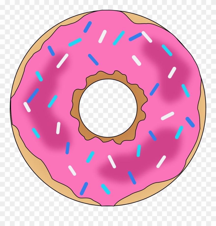 Pink with sprinkles png. Donut clipart sprinkled donut