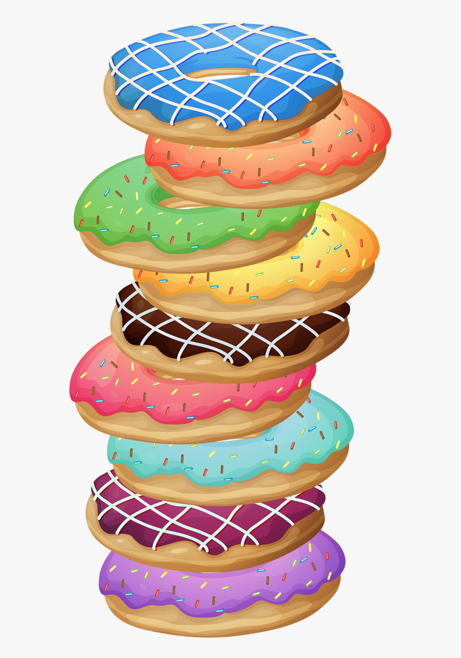 soloveika stack of. Donuts clipart pile
