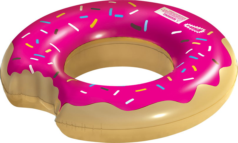Wham o splash inflatable. Donut clipart strawberry