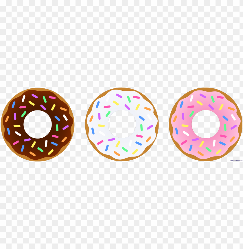 Chocolate vanilla transparent . Donut clipart strawberry