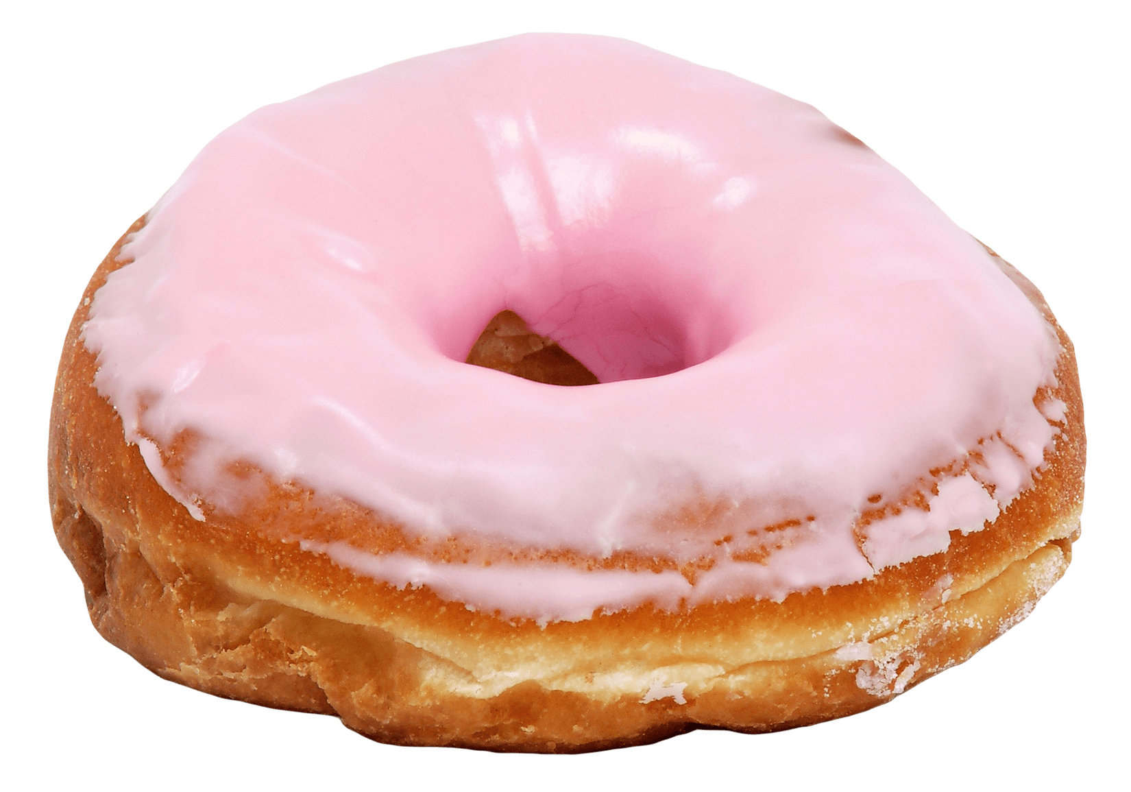Big pink donut transparent. Doughnut clipart sugary food
