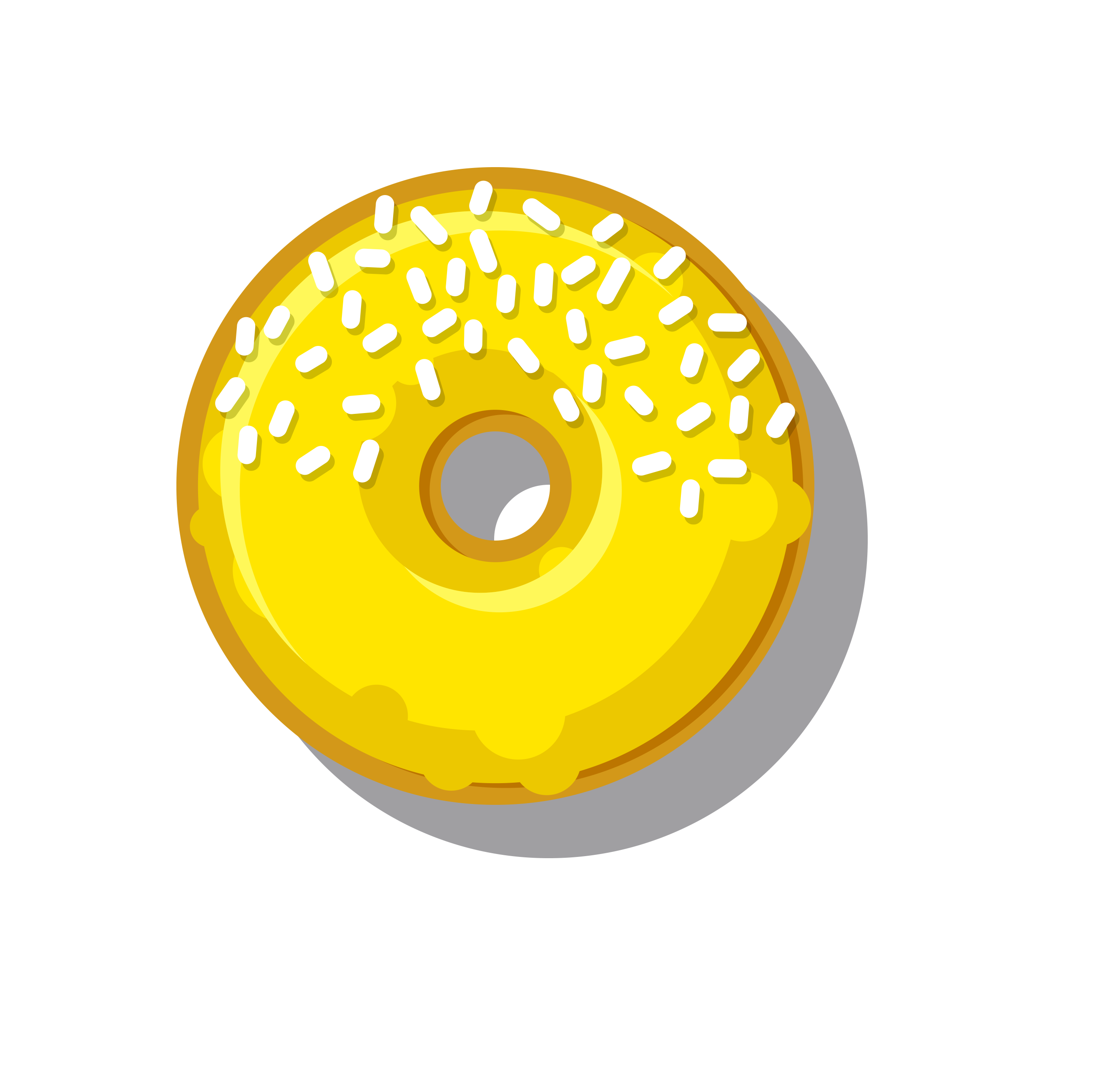 Donuts clipart green. Free photo yellow donut