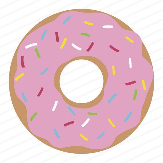 Donut clipart svg. Dxf eps stencil clip
