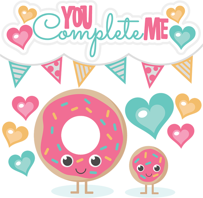 You complete me cutting. Donut clipart svg