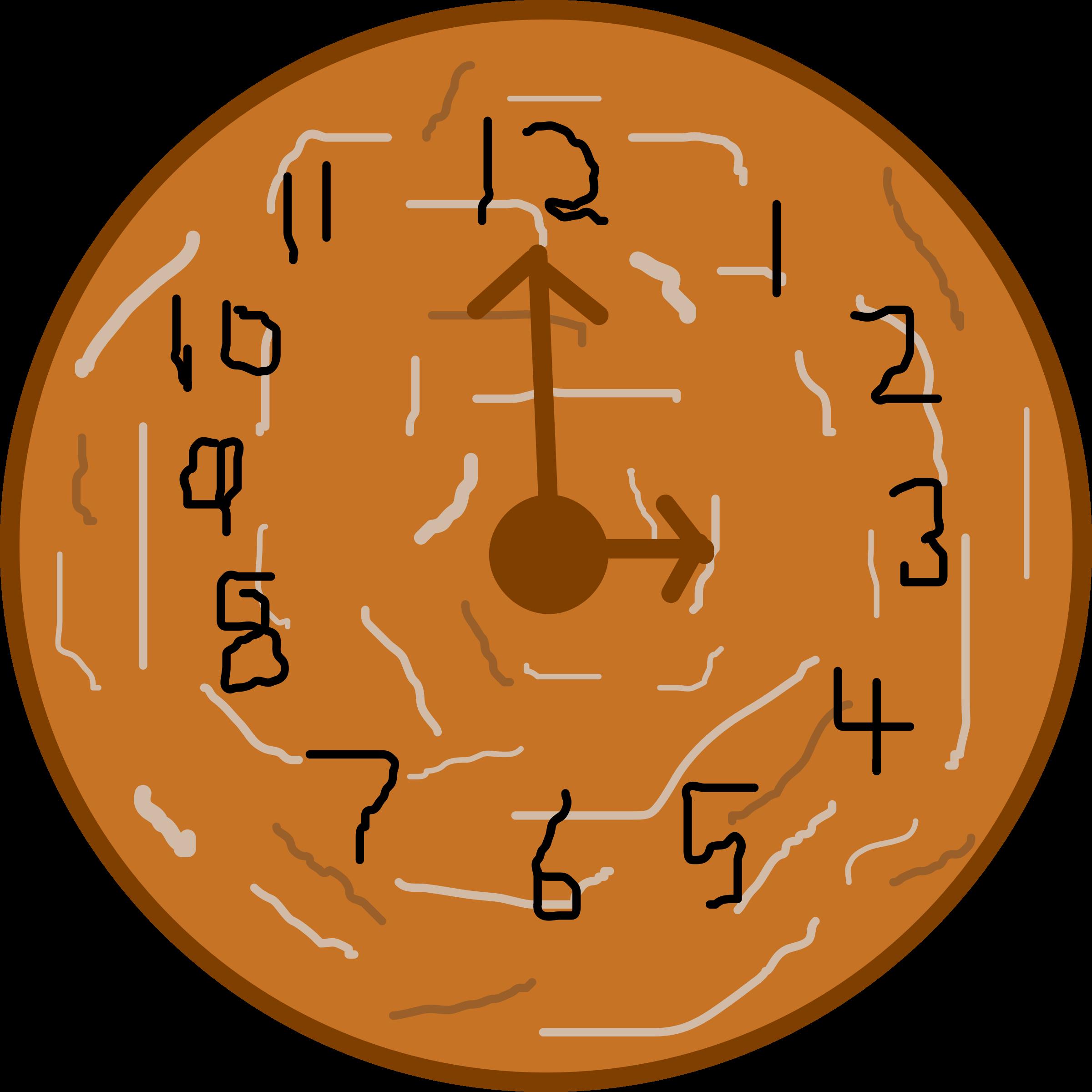 Donut clipart svg. Doughnut or cookies clock