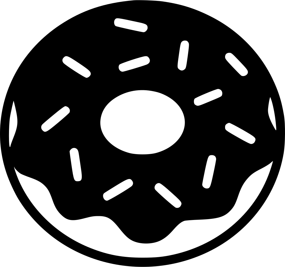 Donut svg png icon. Donuts clipart bitten