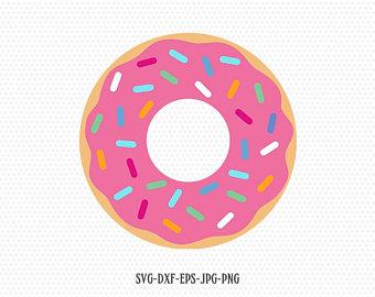 Etsy . Donut clipart svg