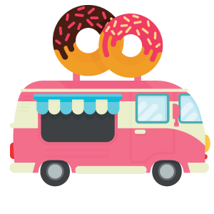 Dough s donuts about. Donut clipart truck