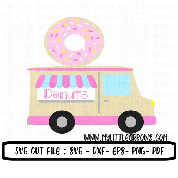 Donut clipart truck. Svg dxf grow up