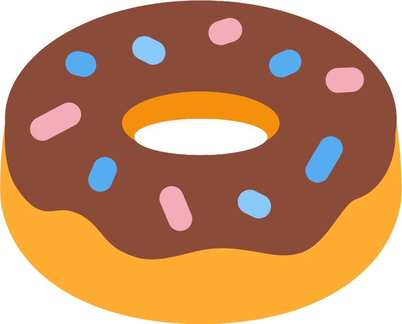 Png . Donut clipart twist