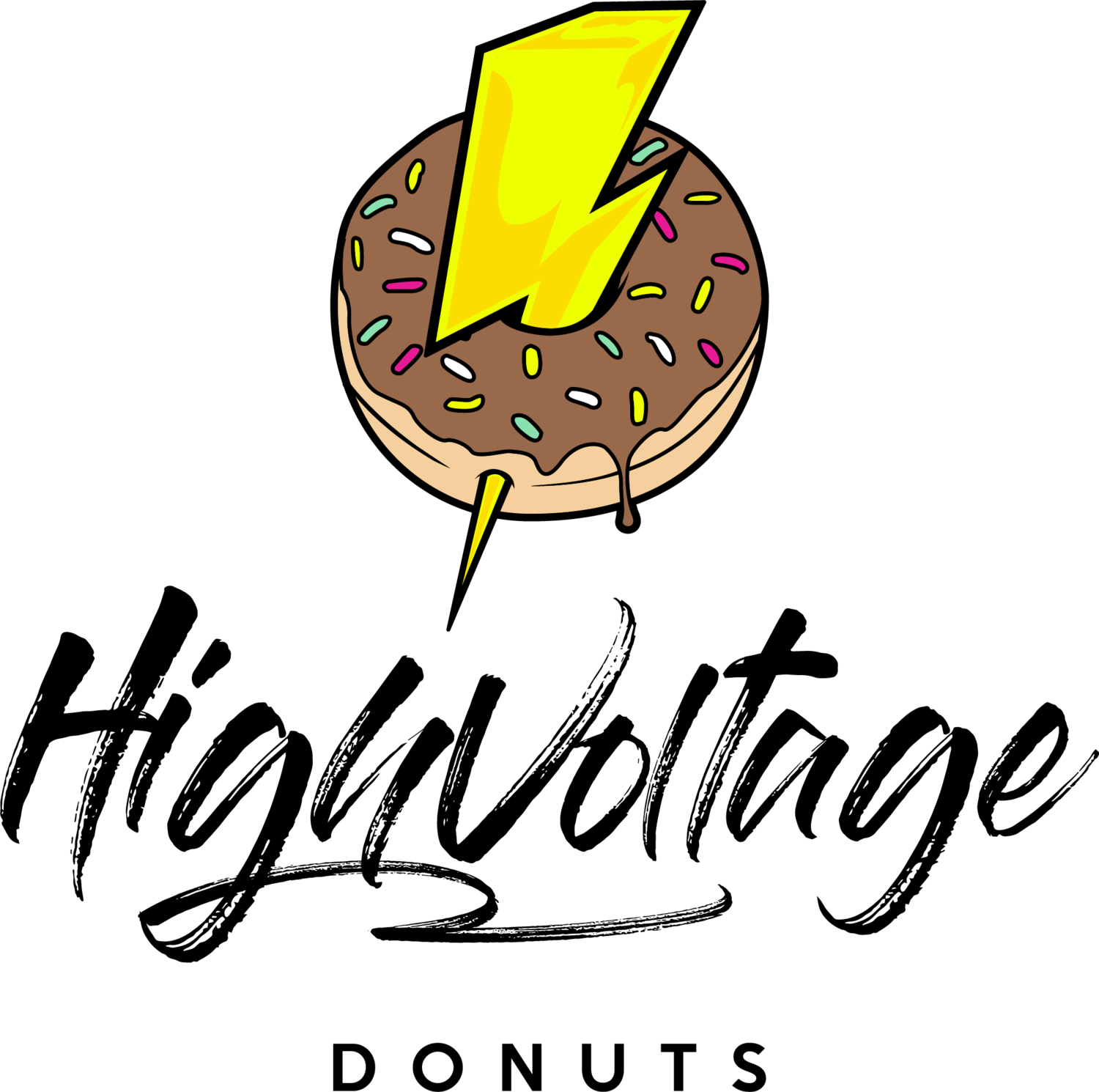 Donut clipart vanilla donut. High voltage donuts