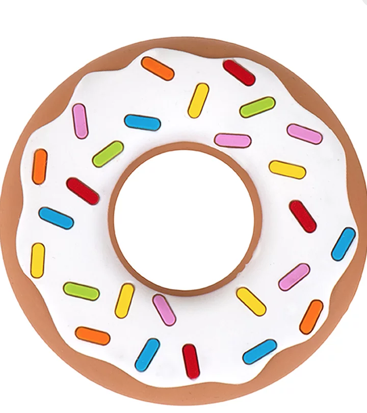Silicone teether . Donut clipart vanilla donut