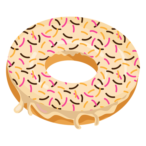 Doughnut with sprinkles transparent. Donut clipart vanilla donut