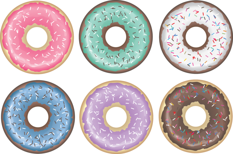 Donuts clipart circle. Free images pictures download