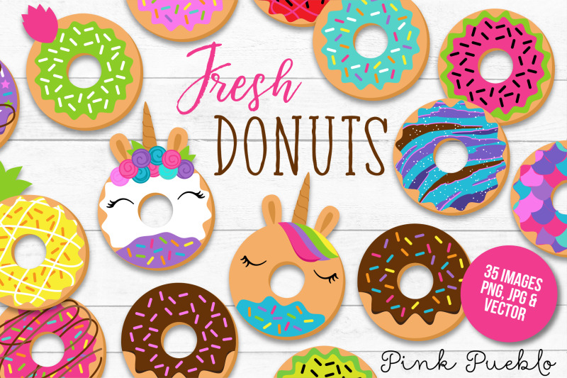 Donut and vectors by. Doughnut clipart vector