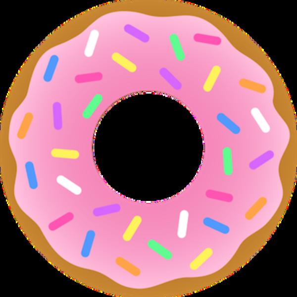 Strawberry sprinkles free images. Doughnut clipart vanilla donut