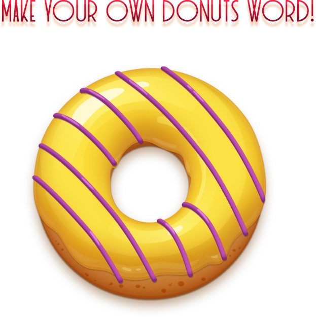 Donuts match asset on. Donut clipart video game