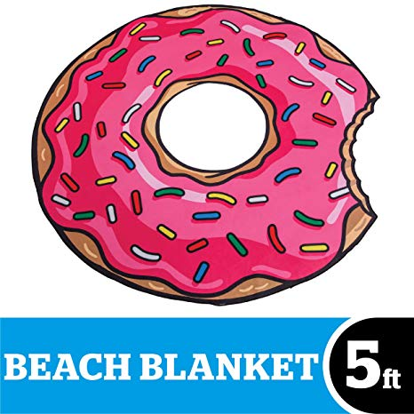 Donut clipart video game. Bigmouth inc beach blanket