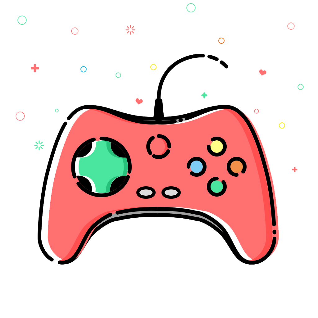 Gamepad joystick icon the. Donut clipart video game