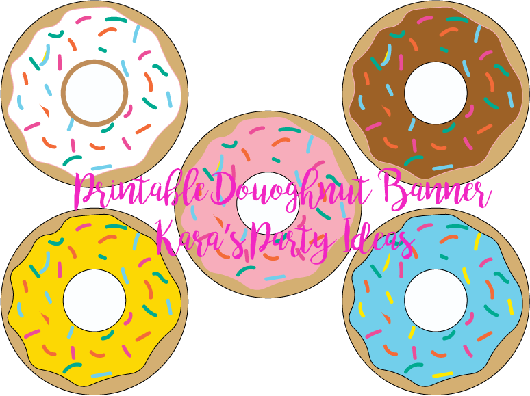 Kara s party ideas. Donut clipart vintage