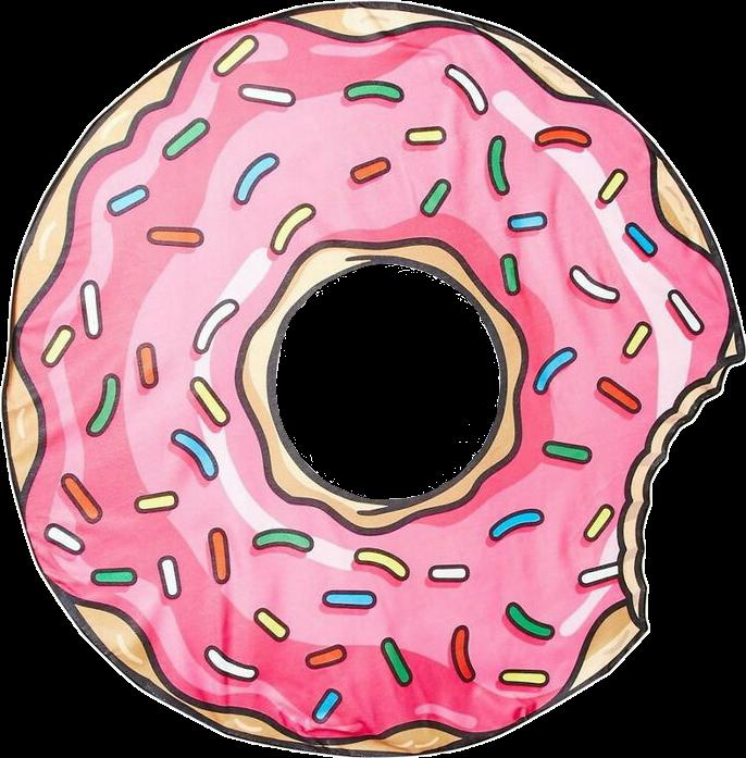 Doughnut clipart colorful. Donut tumblr tumblroutline vintage