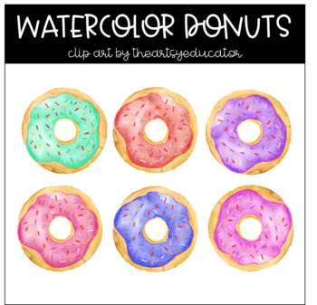Clip art . Donut clipart watercolor