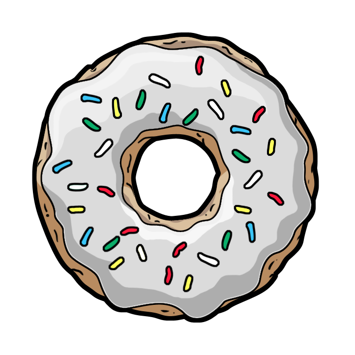 Doughnut clipart pastel. Pin by grazinha on