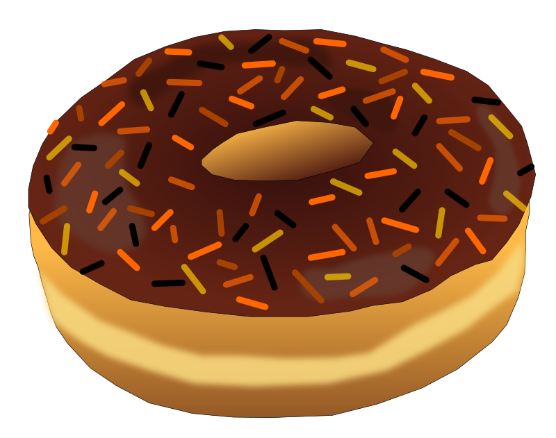 donut clipart word