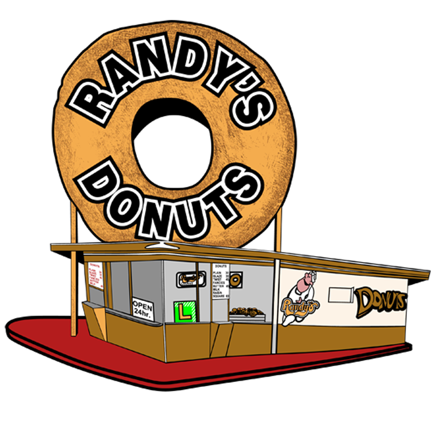 Donut clipart yellow. Randy s donuts