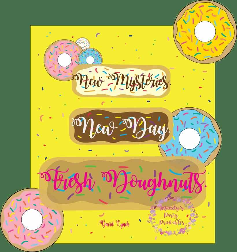 Free birthday invite and. Donut clipart yellow