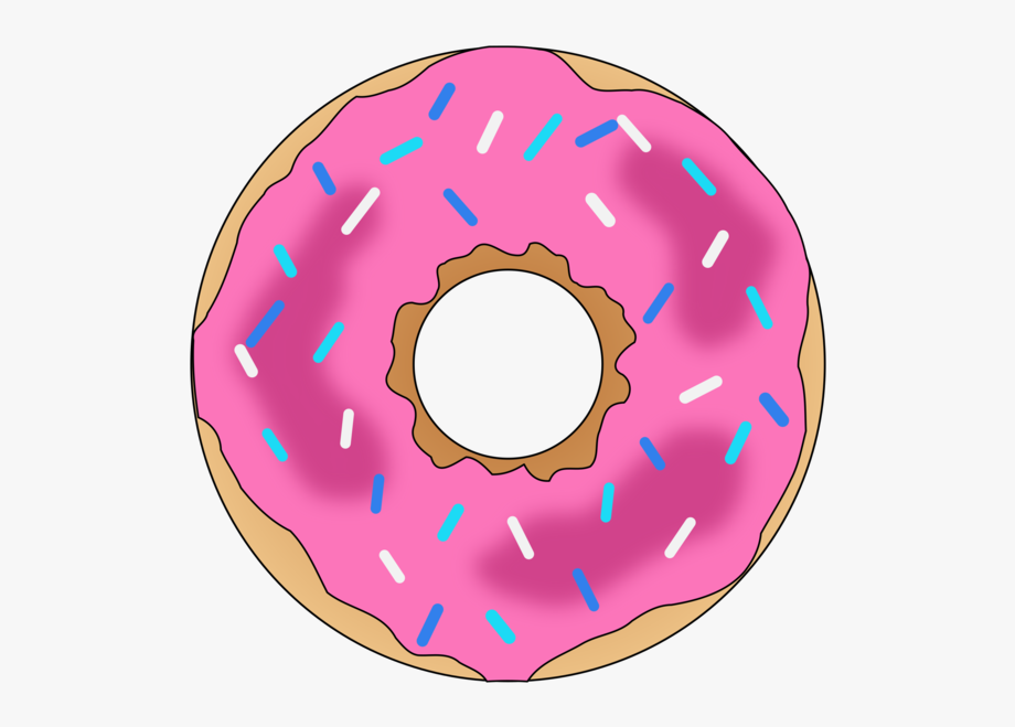 Donut clipart circle. Donuts dessert pink clip