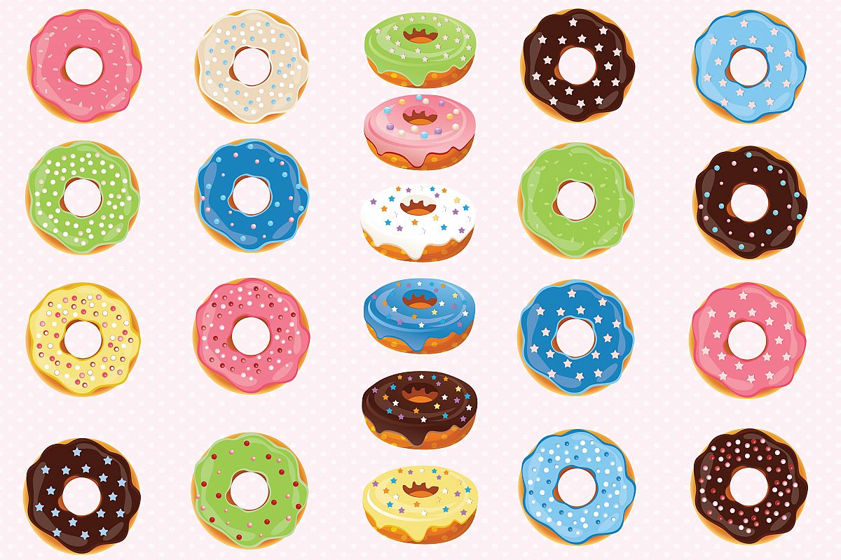 Graphics by prem design. Donuts clipart