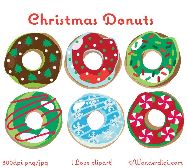 Clip art donut . Donuts clipart christmas