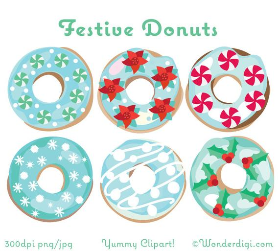 Donuts clipart christmas. Clip art winter donut