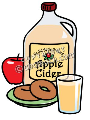 Apple and . Donuts clipart cider donuts