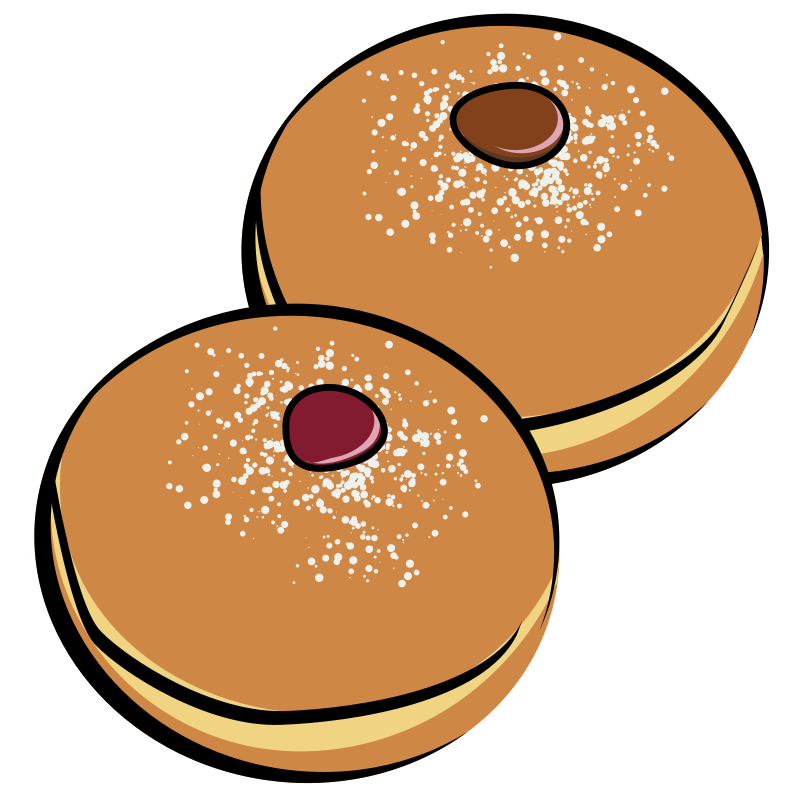 Donuts one frames illustrations. Baked goods clipart cartoon